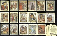 Life & Times Of Christopher Columbus Complete 20 Card Set Explorer America Ship