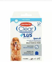 Bob Martin Clear Plus Spot On Treatment For Medium Dogs - Kills Fleas & Ticks