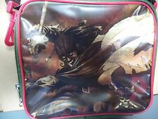 Disney Pirates of the Caribbean Vinyl Green & Brown Lunch Box & Carry Strap VGC
