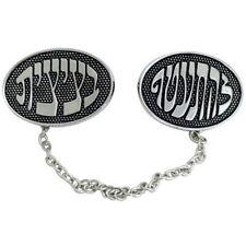 Hebrew Words Talit Talis Clips Jewish Prayer Shawl Clips Nickel Judaica