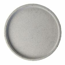 Handmade Large Natural Colour Round Concrete Tray Grey D44.7cm