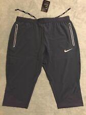 Nike Swift 3/4 Running Trousers Men's Sz Small S Thunder Blue 872092 471 NWT