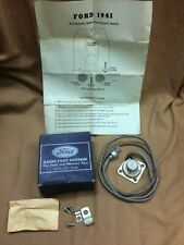 1941-1948 Ford and Mercury factory accessory radio foot control kit, 11A-18934