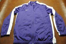 New Men's NIKE Track Jacket Purple/White Full Zip Jacket Size Large