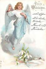 Froehliche Weihnachten! Merry Christmas! Lady Woman Angel, Snowdrops
