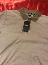 NEW HUGO BOSS   SLIM FIT PHILLIPSON 27 CASUAL POLO SHIRT SIZE L Mercerised
