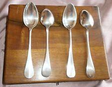 24 Cuillère soupe métal argenté 18 Félix + 6 Métal blanc + Coffret bois olivier