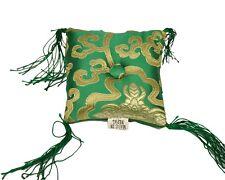 Tibetan Singing Bowl Cushion - Green