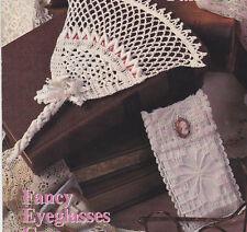 Crochet Pattern ~ LACY BELL FAN & FANCY EYEGLASSES CASE ~ Instructions