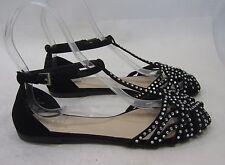 NEW LADIES Summer Black Rhinestone Womens ROUND TOE Sexy Sandals Size 6