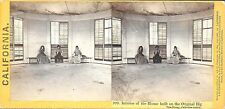 2 Houseworth Stereoviews Exterior & Interior of the House on the Big Tree c1860s