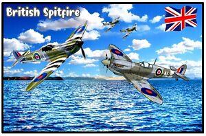 BRITISH SPITFIRE - NOVELTY SOUVENIR FRIDGE MAGNET - BRAND NEW / SHIPS / GIFTS