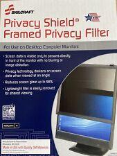 """SKILCRAFT 7045-01-613-7629 Privacy Shield Privacy Filter 17"""" Framed Privacy Filt"""
