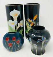 4 Vintage Otagiri Japan Floral Porcelain Vase Collectibles Excellent Condition