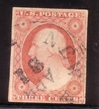 U.S.A - 1850 s 3 Cts ORANGE BROWN WASHINGTON USED