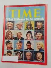 Time Magazine April 10 1972 What It Means To Be Jewish - English Weekly