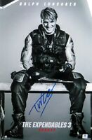Dolph Lundgren Signed Autographed 12X18 Photo The Expendables 3 Poster GV838779