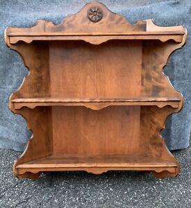 "Rare! Ethan Allen Heirloom Curio Wall Shelf 07-1814 Plate Shelves 32""x34"" Large"