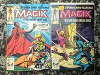 Magik #2-3 **TWO ISSUE LOT** (Marvel 1983) X-Men Spin-off - Storm Appearance