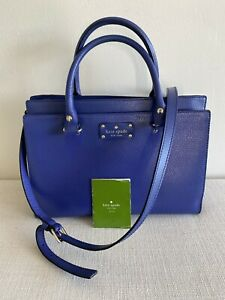 KATE SPADE NEW YORK WOMEN'S SHOULDER SATCHEL BLUE WELL LOVED HANDBAG