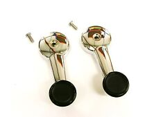 PAIR OF CHROME WINDER HANDLES & SCREWS FOR MG MIDGET