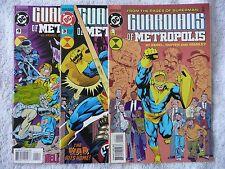 GUARDIANS OF METROPOLIS #1 #3 #4 (DC 1994-95) • mixed lot of 3 comics • Mint!
