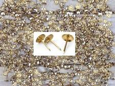 1000PC 8mm Brass Plated Furniture And Upholstery Nails Tacks Fabric Studs