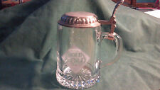 ALWE Italy Baked Rold Gold Pretzels Clear Glass Beer Stein with Lid
