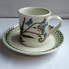 Portmeirion Botanic Garden Coffee Cup And Saucer Forget Me Not