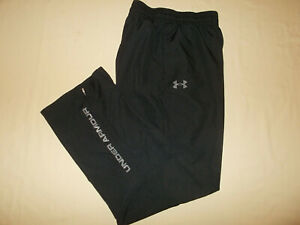 UNDER ARMOUR BLACK MESHED LINED ATHLETIC PANTS MENS LARGE EXCELLENT CONDITION