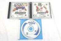 Lot of 3 Madden NFL EA Sports 2001 2002 2004 CD ROM Computer Video Games