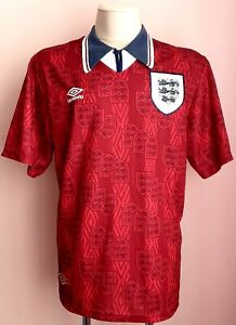 England 1993 - 1995 Away football Umbro shirt