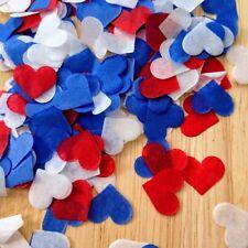 3500 Multi Paper Confetti Hearts RED WHITE BLUE Royal Wedding Balloon Decoration