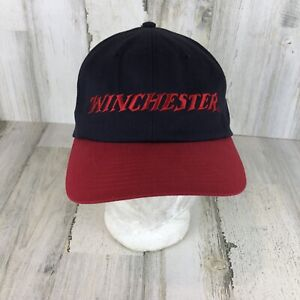 Winchester Firearms -Graphic Logo On Back- Adjustable Hat/Cap Red And Navy Blue