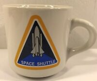 Coffee Mug Cup Space Shuttle Triangle White Yellow Blue Black Collectible