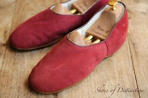 Men's Church's Red Suede Wool Slippers Shoes UK 8 US 9 EU 42