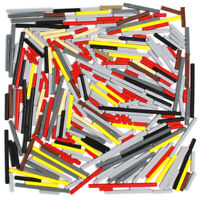 Lego 280x Genuine Technic Cross Axles Rods Shafts Black Red Grey Tan Yellow NEW