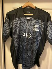 AIG Rugby New Zealand Jersey LG. Black and Grey