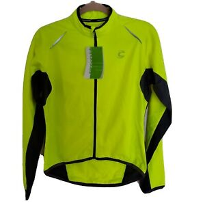 Cannondale Womens Pack Me Lightweight Jacket High Vis Yellow Full Zip Small