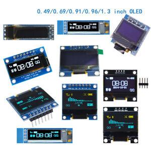 """OLED Display Module IIC I2C/SPI 0.49/0.69/0.91/0.96/1.3"""" White/Blue For Arduino"""