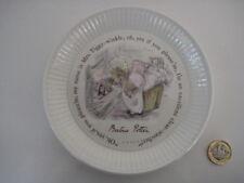 RARE Wedgwood Beatrix Potter Mrs Tiggy Winkle compotier plat Côtelé Plaque