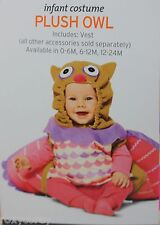Halloween Infant Plush Owl Costume Size 0-6 months NWT