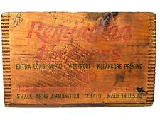 Vintage Remington Express DuPont Wood Ammo Crate 12 ga Shotgun Ammunition Box