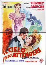 l'affiche du film CIEL peut ATTENDRE tierney,ameche,coburn,LUBITSCH; BALLESTER
