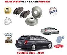 für Toyota Avensis 1.6 1.8 2.0 2.0DT D4D 2003-2009 HA Bremsscheiben + BELÄGE