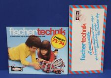 Lot of 2 different Fisher Technik 1973-74 Poster Catalog Brochures Foldout