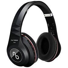 Nu Bass ONE - Wireless Bluetooth Over-ear Headphones - Micro SD, MP3 Mode, Black