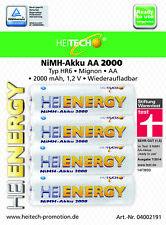 20 x NiMH Akku HEITECH HR6 AA Mignon 2000 mAh Stiftung Warentest: sehr gut