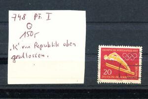 DDR Nr. 748  PF I    (nach MICHEL ) ,  gestempelt Bedarf (6330)