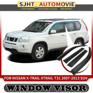 4x Weather Shield Weathershield Window Visor for Nissan X-Trail T31 07-13 SUV